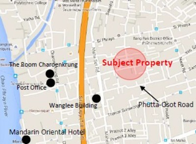 3 Unit Shophouses close to Charoenkrung-Silom Road View1