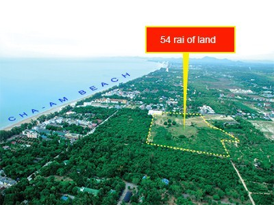 54 Rai of Land For Sale in Cha-Am View1