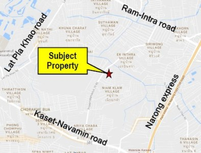 Land 3-1-55 Rai For Lease On Prasert-Manukitch 29  View1