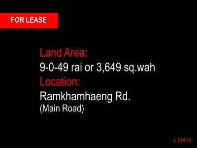 Land 9-0-49 rai. on Ramkhamhaeng Road View1
