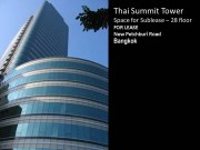 Thai Summit Tower Space for Sublease - 28fl