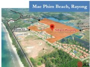 Vacant land 62 Rai for development at Mae Phim Beach